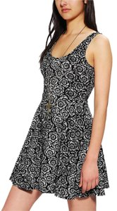 Urban Outfitters short dress BLACK Skater Stretchy Ecote Urban on Tradesy