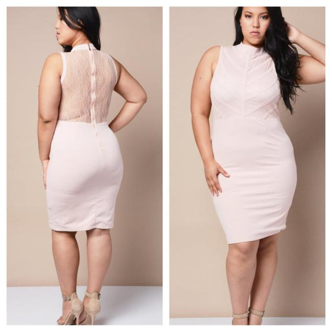 Preload https://img-static.tradesy.com/item/20815269/pink-lace-mid-length-short-casual-dress-size-16-xl-plus-0x-0-0-650-650.jpg