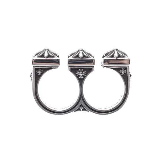 Chrome Hearts CH PLUS BRASS KNUCKLES DOUBLE TWO FINGER RING ONE SIZE