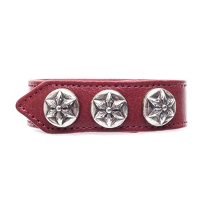Chrome Hearts FIVE POINT STAR LEATHER BRACELET ONE SIZE