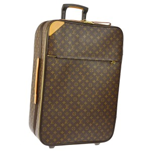 Louis Vuitton Luggage Suitcase Travel Monogram Monogram Brown Travel Bag
