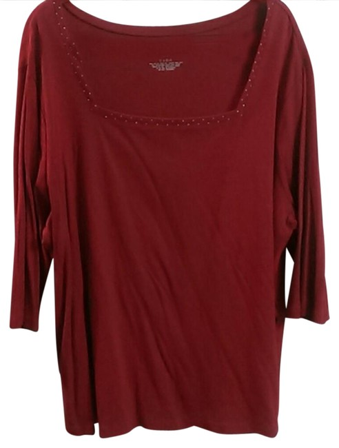 Preload https://img-static.tradesy.com/item/20815399/venezia-by-lane-bryant-red-relaxed-fit-blouse-sweaterpullover-size-26-plus-3x-0-1-650-650.jpg