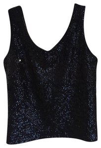 Other Vintage Beaded Tunic Sequin Wool Beaded Flapper Top Black