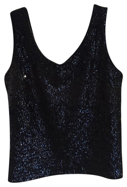 Preload https://img-static.tradesy.com/item/20815713/vintage-sequined-wool-tank-2for1-black-top-0-1-650-650.jpg