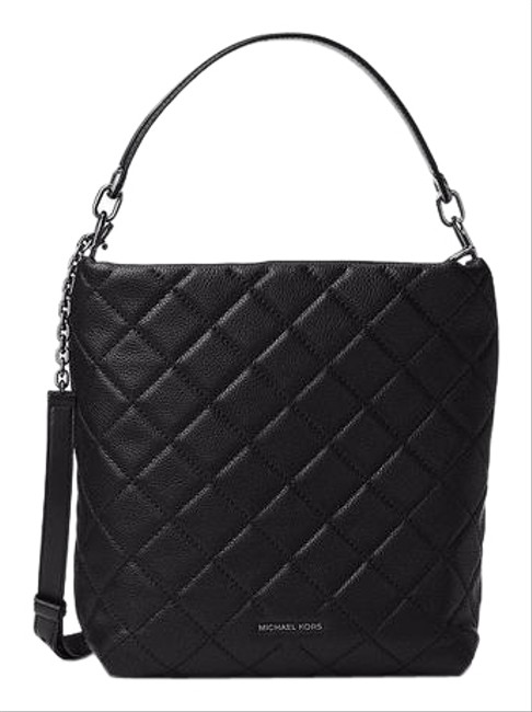 Michael Kors Large Quilted Black Leather Shoulder Bag Michael Kors Large Quilted Black Leather Shoulder Bag Image 1