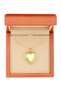 Argento Vivo 18K Gold Plated Sterling Silver Heart Locket with Border Necklace