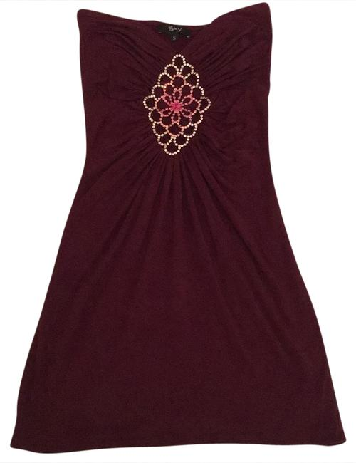 Preload https://img-static.tradesy.com/item/20815872/sky-burgundy-with-pink-and-gold-rhinestone-jewels-short-cocktail-dress-size-4-s-0-1-650-650.jpg