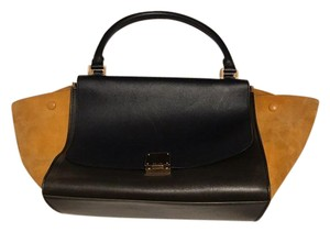 Céline Tricolor Leather And Suede Shoulder Bag