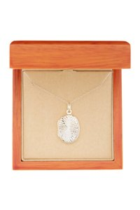 Argento Vivo Sterling Silver Oval Swirl Front Locket Necklace
