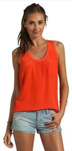 Joie Silk Racer-back Pocket Sleeveless Top