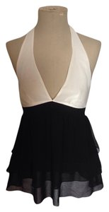 Zara Top Black Ivory
