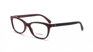 Chanel NEW CHANEL 3288Q Burgundy Cat Eye Quilted Leather Eyeglasses Frames