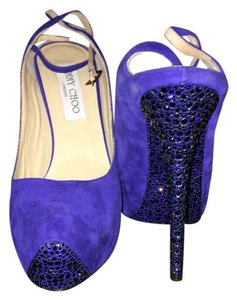 Jimmy Choo royal blue Platforms