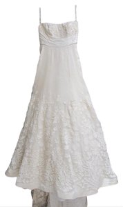 Melissa Sweet Ivory Polyester A-line Formal Wedding Dress Size 2 (XS)