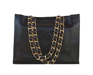 Chanel Maxi Flap Double Boy Hermes Tote in Black