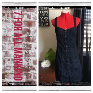 7 For All Mankind short dress blue on Tradesy