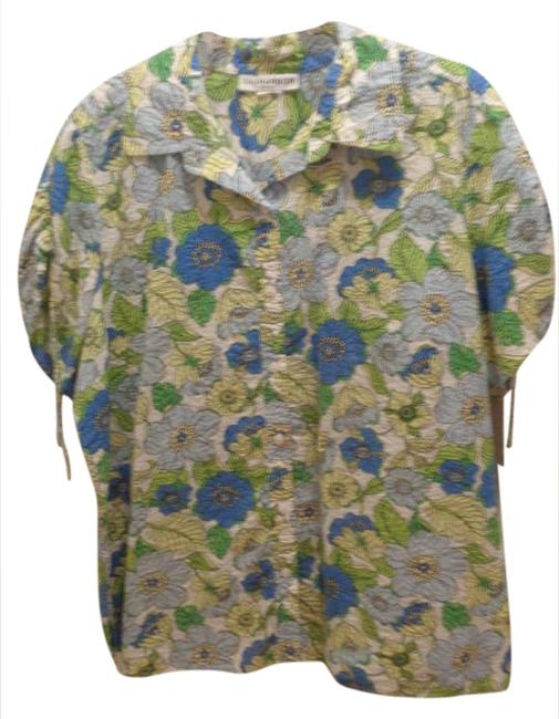 Preload https://img-static.tradesy.com/item/20816209/sag-harbor-bluegreen-flowers-shirt-button-down-top-size-18-xl-plus-0x-0-1-650-650.jpg