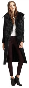 Rag & Bone Shearling Wool Fur Leather Pea Coat