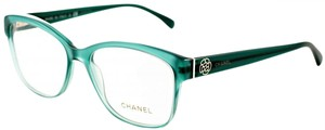 Chanel NEW Chanel 3255 Blue Turquoise Camellia Eyeglasses Frames