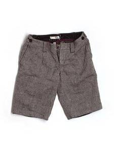 Joie Wool Tweed Belt Loops Bermuda Shorts Brown