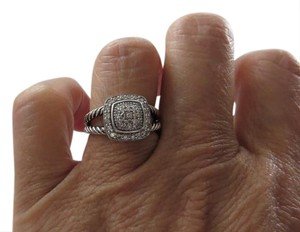David Yurman Albion Collection - Petite Albion Pave' Diamond SS Ring