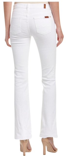 Item - White Iconic Tailorless Boot Cut Straight Leg Jeans Size 31 (6, M)