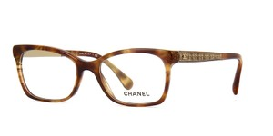 Chanel NEW Chanel CH 3332 Light Brown Tweed Rectangle Eyeglasses Frames