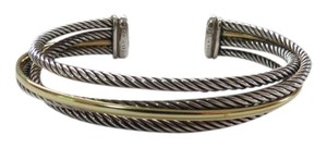David Yurman Crossover Collection - 3 Row Cuff Bracelet with SS/18k, Medium