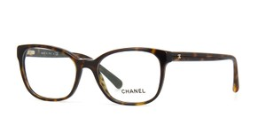 Chanel NEW Chanel 3313 Brown Rectangle Eyeglasses Frames