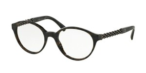 Chanel NEW Chanel 3319 Brown Tweed Oval Gunmetal Chain Eyeglasses