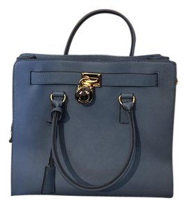 Michael Kors Gold Hardware Satchel in Sky