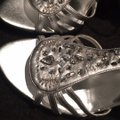 9bb026d099e34b RSVP Silver Rhinestone and Beaded Heels Formal Shoes Size US 5 ...