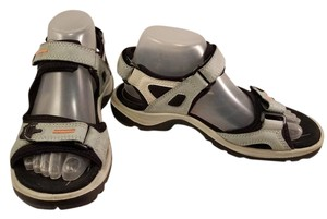 Ecco Sporty light blue and beige Sandals