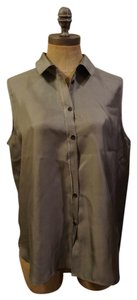 Rag & Bone And Silk Button Work Top Sage green