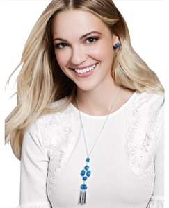 Avon Fashions Serenity Blue Necklace and Earring Set