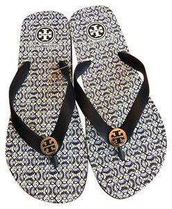 Tory Burch black and purple Sandals
