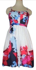 Cynthia Rowley short dress Multi Floral Spaghetti Strap on Tradesy