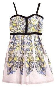 Cynthia Rowley short dress White/Yellow Spaghetti Strap Cotton on Tradesy
