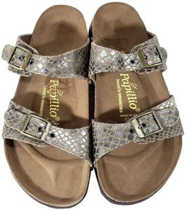 Birkenstock Brown Snake Print Sandals