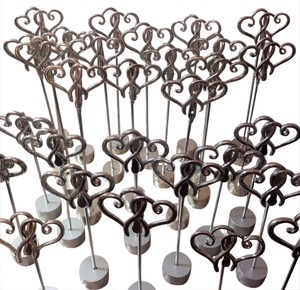 30 Heart Table Number Place Card Holders