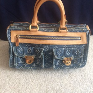 Louis Vuitton Satchel in distress Denim