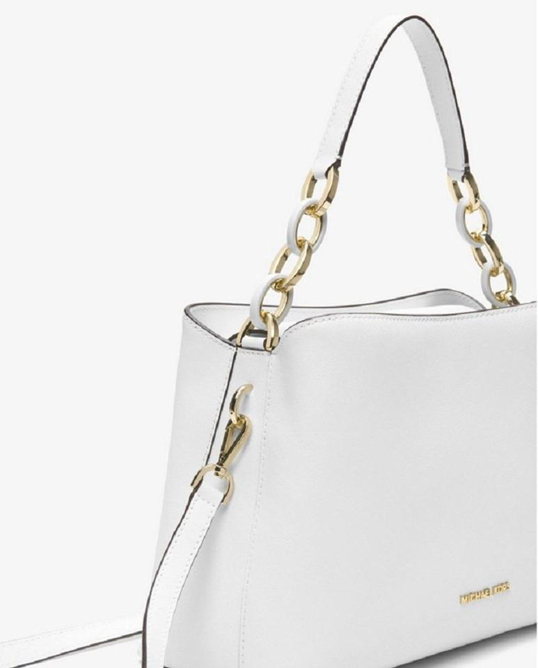 5ba6c9c0eb8393 Michael Kors East West Satchel Saffiano Leather Large Portia Shoulder Bag  Image 4. 12345