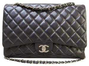 Chanel Maxi Double Flap Lambskin Shoulder Bag