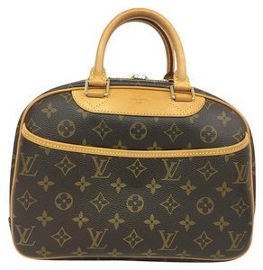 Louis Vuitton Lv Monogram Trouville Canvas Tote in brown
