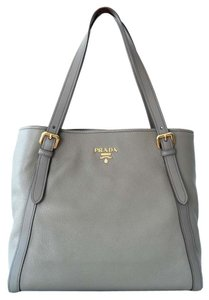 Prada Tote Black Vitello Phenix Large 1bg064 Shoulder Bag