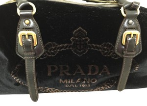 Prada New With Tag Travel Satchel in Black / Nero