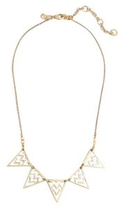 J.Crew Gold Triangle Necklace