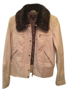 Danier Leather Leather Size Small White Leather Jacket