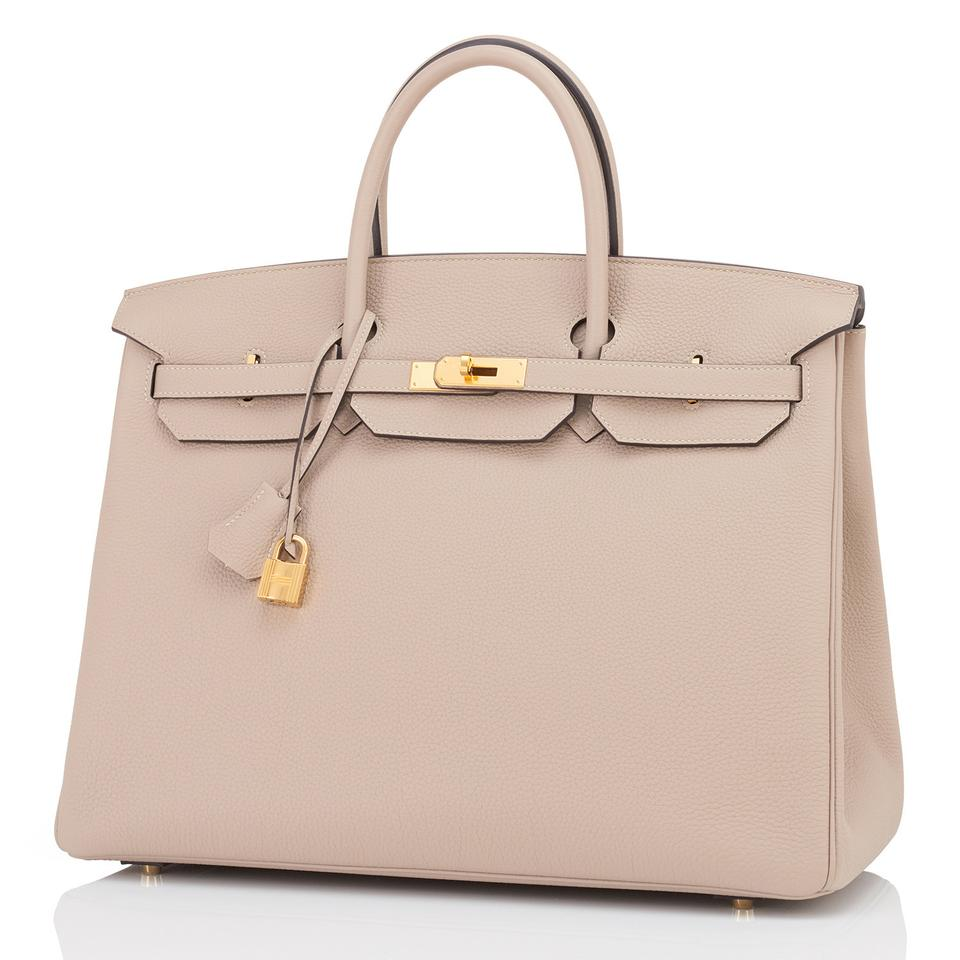 Hermès Birkin 40cm Gold Dove Grey Superb Gris Tourterelle Leather ... d6cddb29d5142