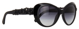 Chanel 5318-Q Cat Eye Camellia Black leather flowered